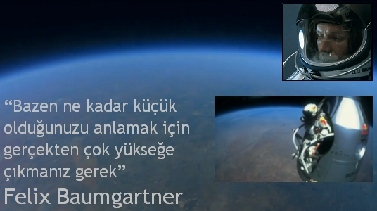 Felix Baumgartner pilot balon atlayış video
