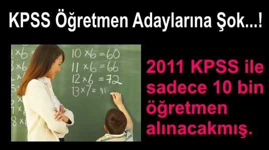 kpss 2011 öğretmenlik