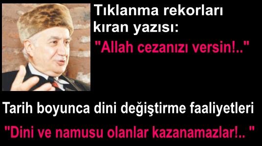 Mehmet Şevket Eygi'nin Allah cezanızı versin yazısı